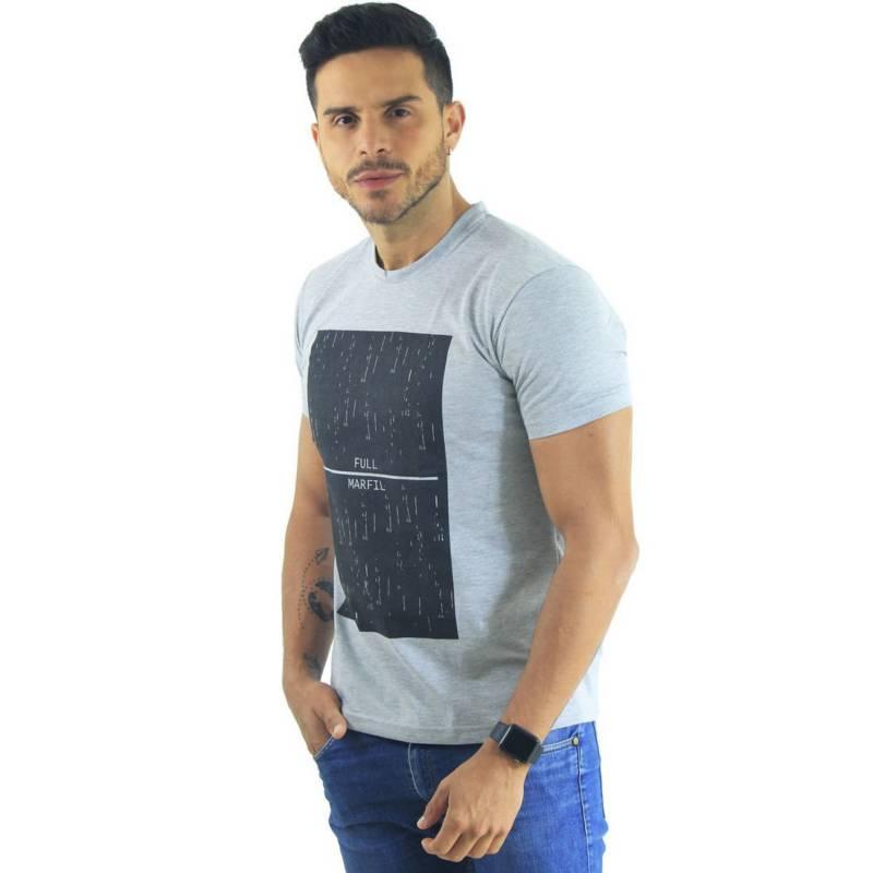 Marfil - Camiseta Hombre Slim Fit Gris