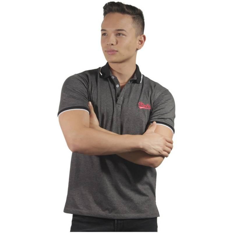 Marfil - Camiseta Polo Hombre Slim Fit  Gris