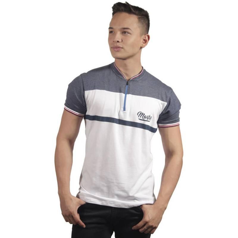 Marfil - Camiseta Hombre Slim Fit