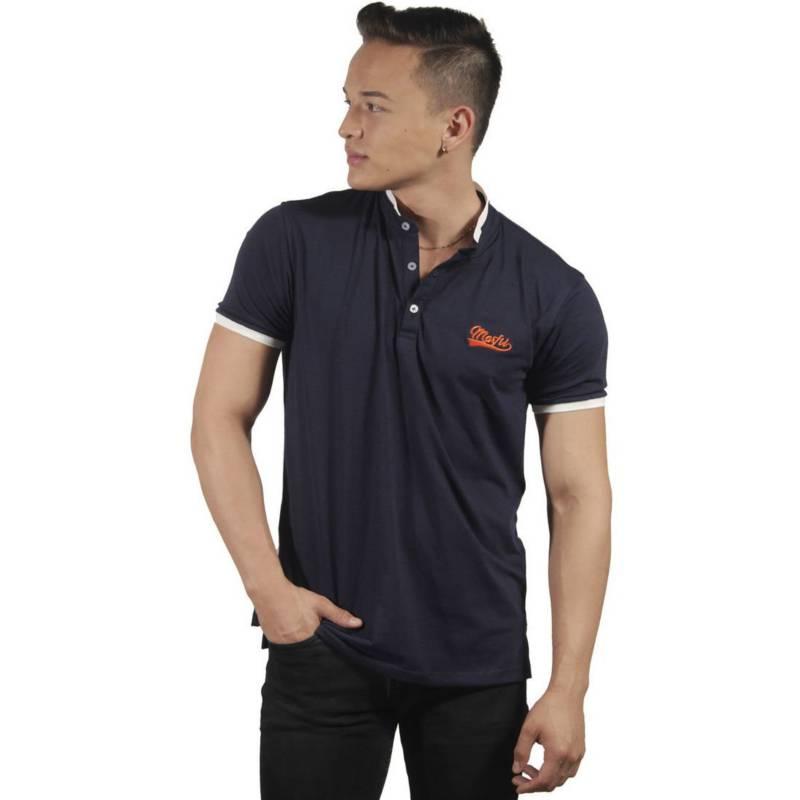Marfil - Camiseta Hombre Slim Fit Negro