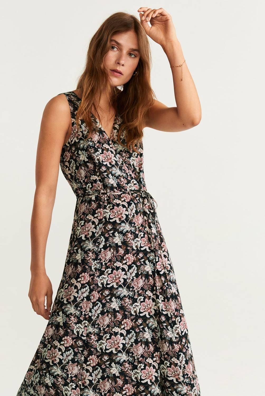 MNG - Vestido Largo Flores