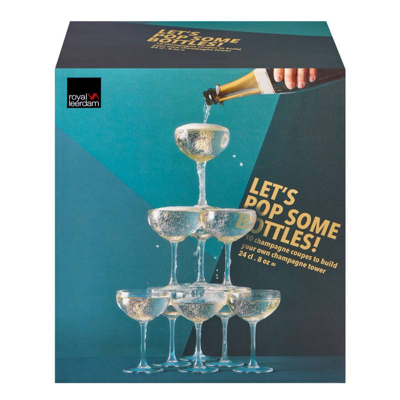 Royal Leerdam - Set x10 Copa Champagne Lets Pop 240 ml