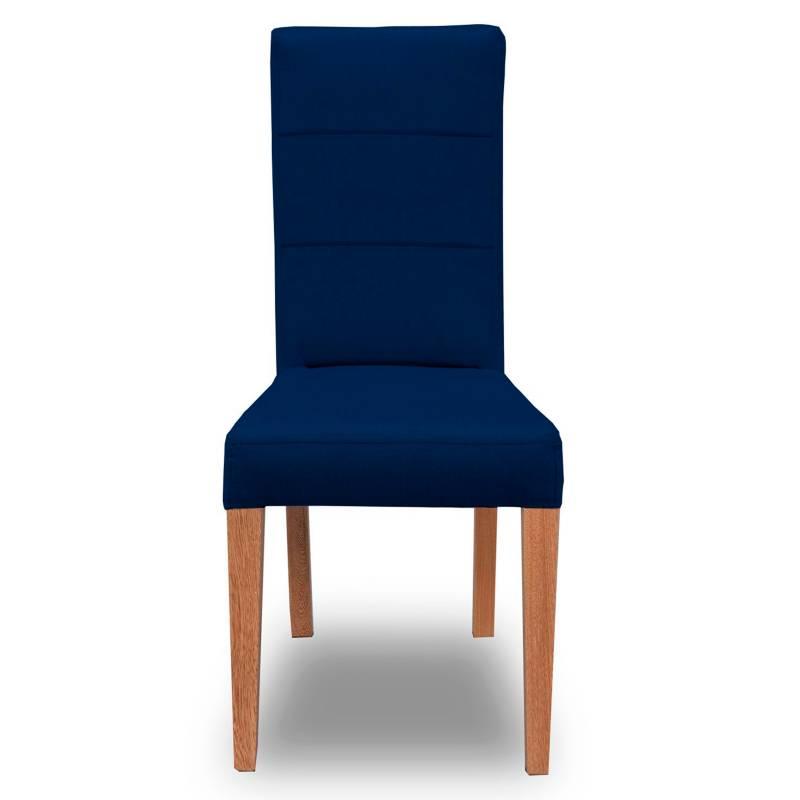 Barthon - Silla de Comedor Azul Lisa
