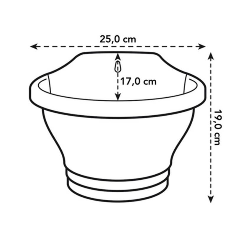 Elho - Matera plástica wall basket 25cm rojo amaranto