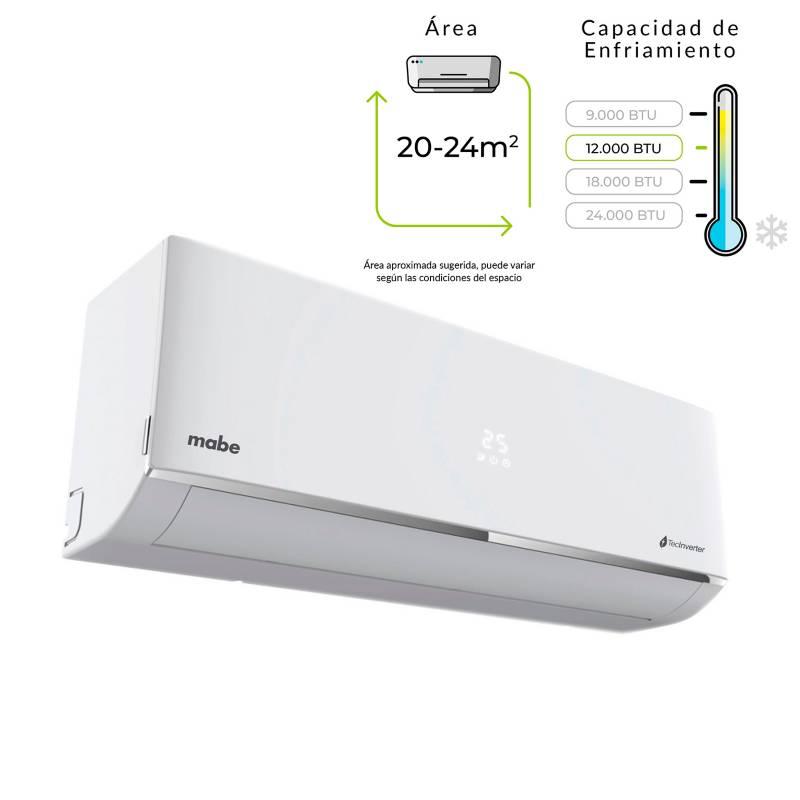 Mabe - Aire Acondicionado Mabe Inverter 12.000BTU 110V