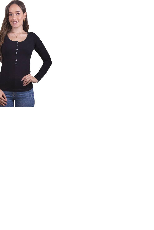 Bocared -  Talia Blusa para Dama Manga Larga Con Broches