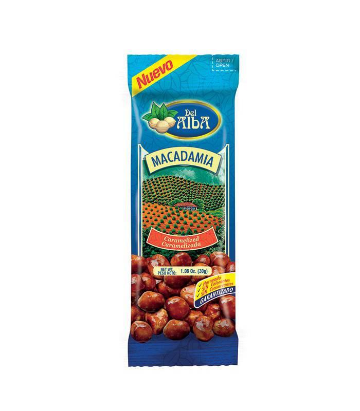 Del Alba - Macadamia Caramelizada X30G
