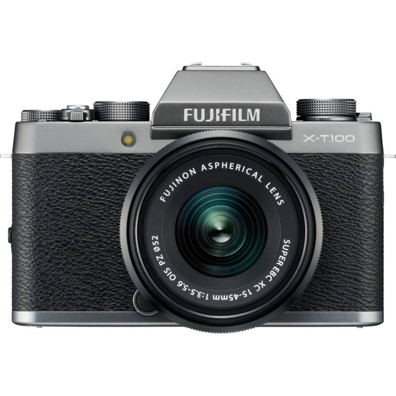 Fujifilm - Cámara profesional FUJIFILM X-T100 Mirrorless + XC 15-45mm f3.5