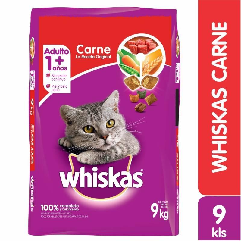 Whiskas - Comida Para Gatos Whiskas  Adulto Carne  X  9 KgWhiskas