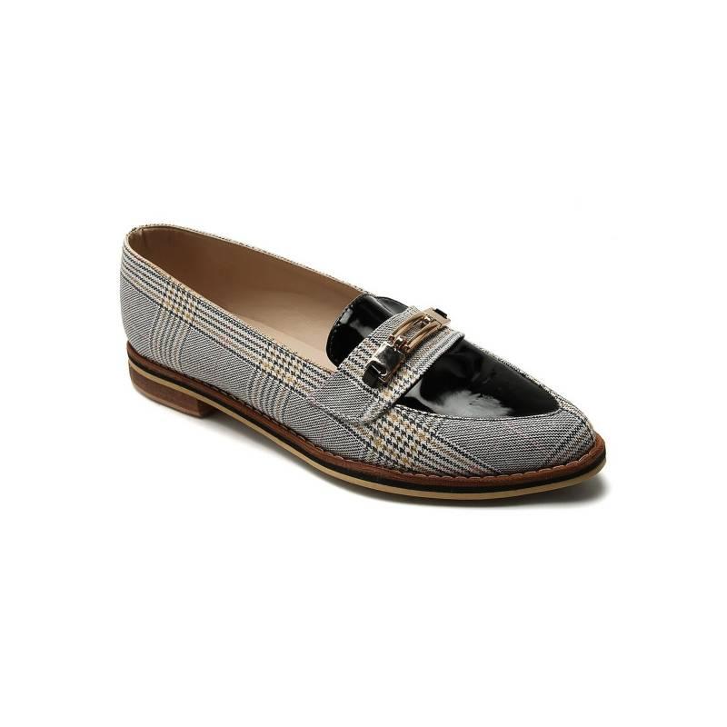 Tellenzi - Zapato Casual Dama Mostaza Escoses Charol 99014
