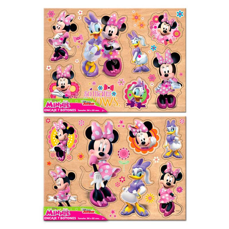 Minnie Mouse - Minnie Encaje 7 Botones Grandes