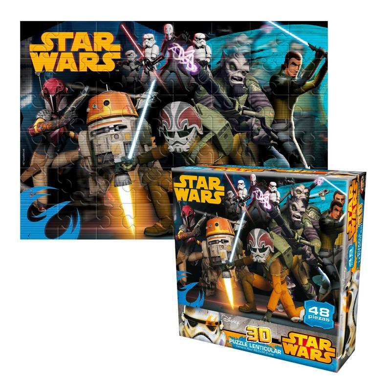 Star Wars - Romp 3D Lenti 48 Pz Sw Rebels