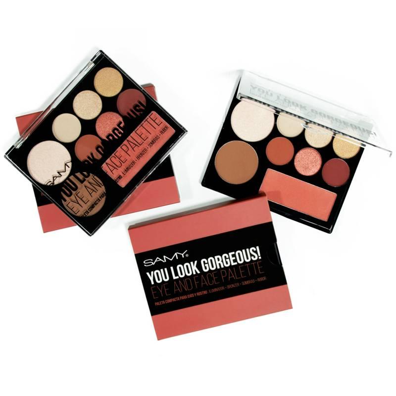 Samy Cosmetics - Paleta Compacta Para Ojos Y Rostro N1 Indian Fest