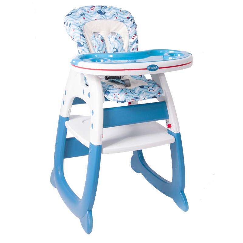 eBaby - Silla de comer Merly Azul