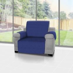 Forro protector de sofá y muebles reversible Azul