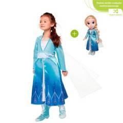 Frozen - Frozen 2 muñeca aventurera + Disfraz Figura Aleatoria