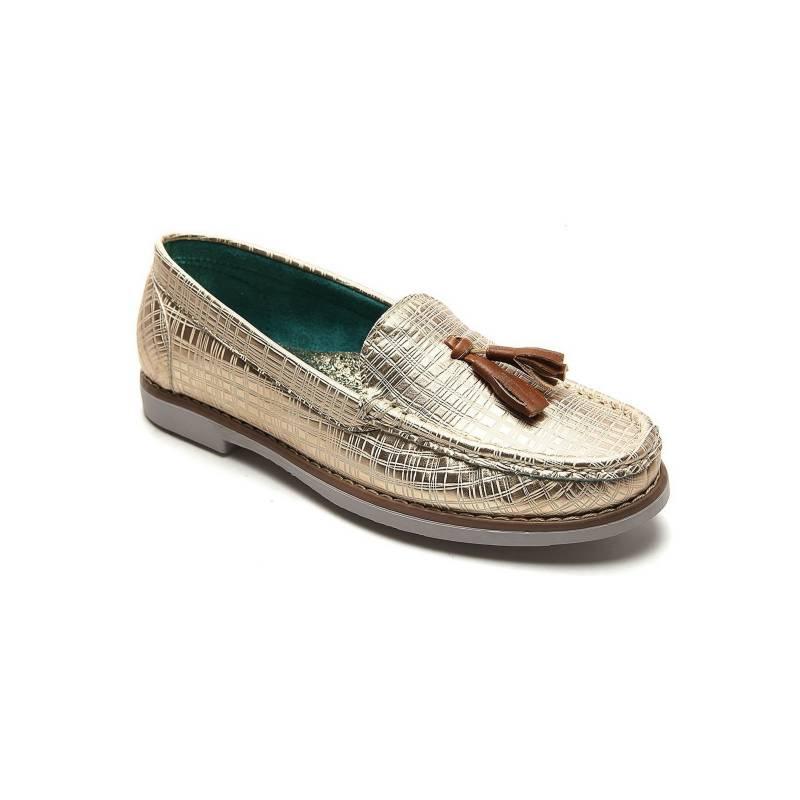 Tellenzi - Zapato Casual Dama Dorado Tellenzi R01