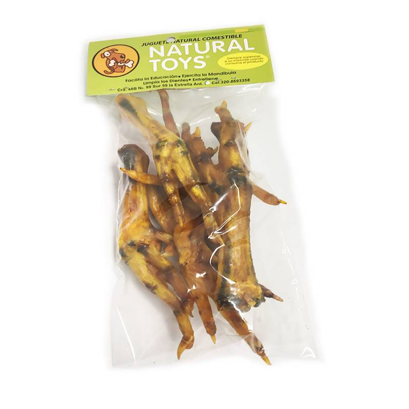 Natural Toys - Patas De Gallina Deshidratadas Naturales X 6 Und