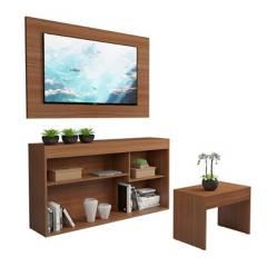 Multimoveis - Combo Rack Tv + Panel + Mesa Auxiliar