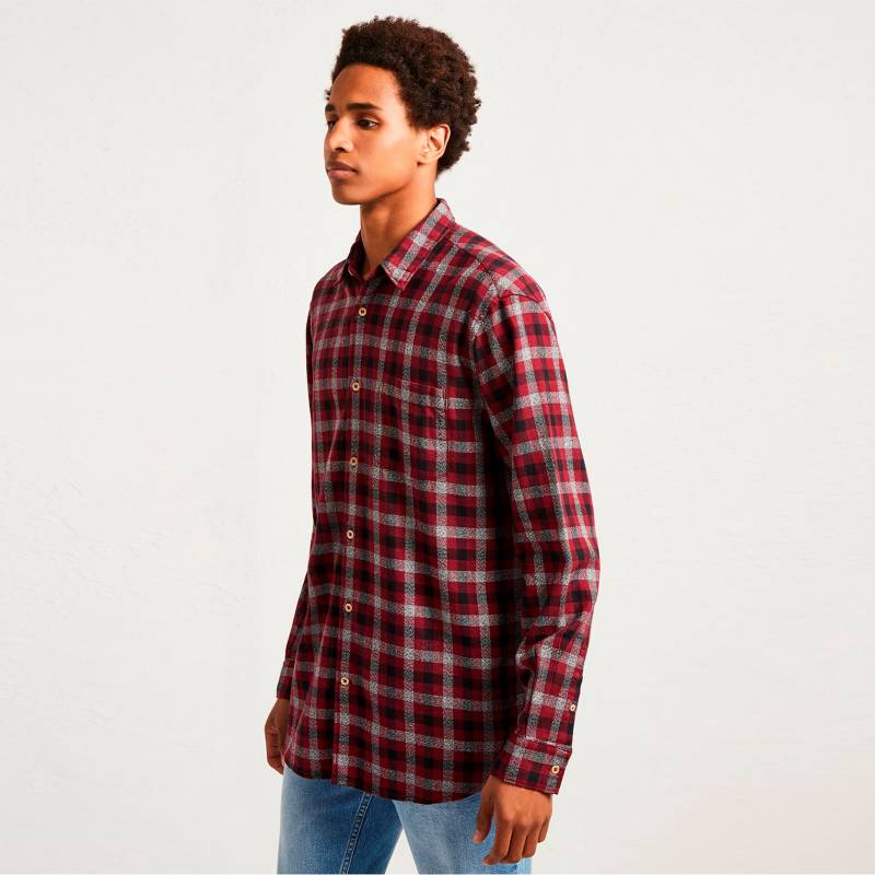 French Connection - Camisa Subtle Dobby Roja