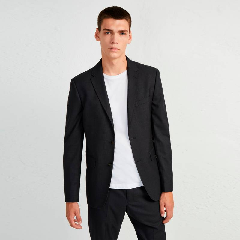 French Connection - Blazer Micro Dogtooth Negro