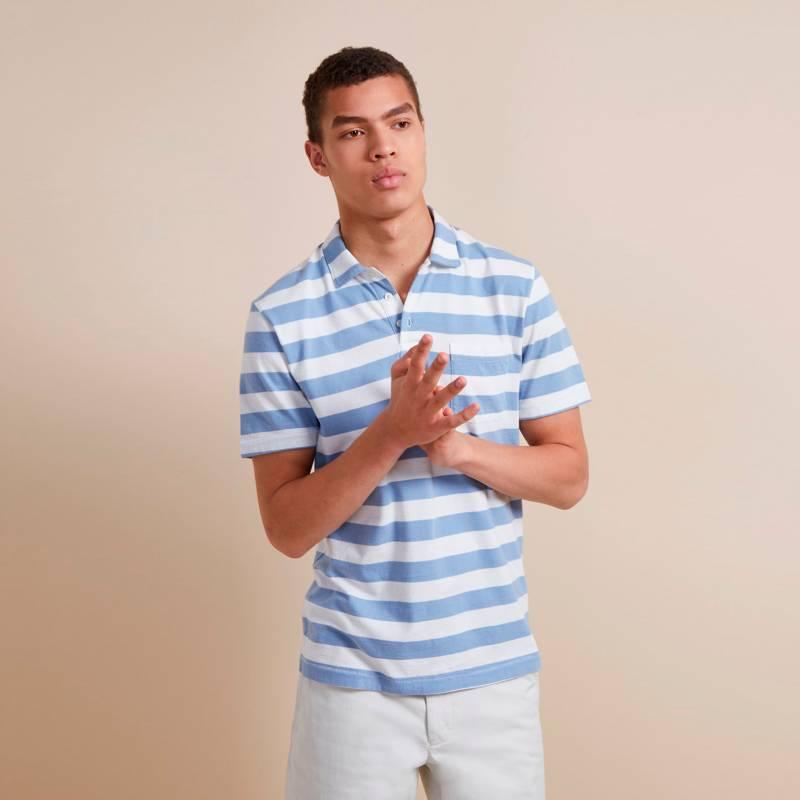 French Connection - Camiseta Polo Harbour Stripe Azul