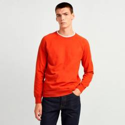 French Connection - Sweater Stretch Crew Naranja
