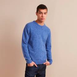 Sweater Simple Donegal Azul