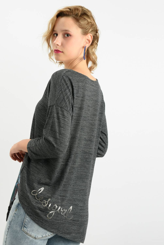 Desigual - Camiseta Mujer Manga 3/4 Desigual