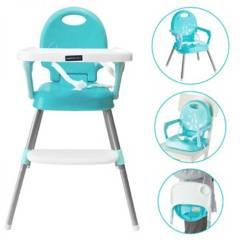 Happy Baby - Silla comedor bebe 3 en 1 Happy Azul