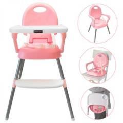Happy Baby - Silla comedor bebe 3 en 1 Happy Rosado