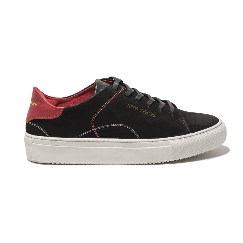 King Pieces - Tenis Negro con Rojo King Pieces Lourdes 2