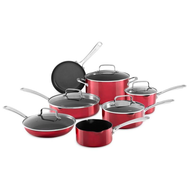KitchenAid - Juego de Ollas KitchenAid Aluminio 12 Piezas