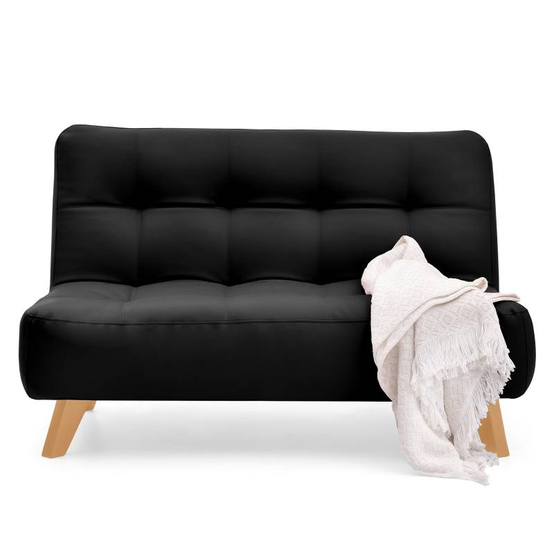 Mica - Sofá Nantes Cuero Negro
