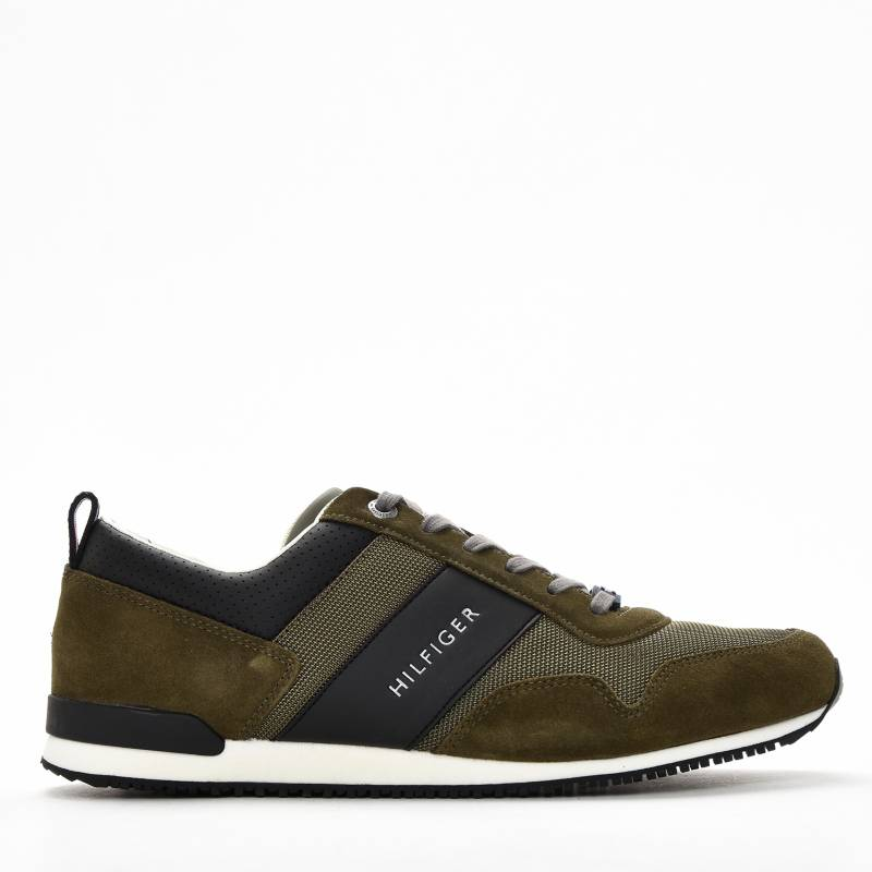 Tommy Hilfiger - Tenis Moda Hombre Iconic Material Mix Runner