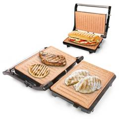 Home Elements - Grill asador Home Elements panini copper 180°