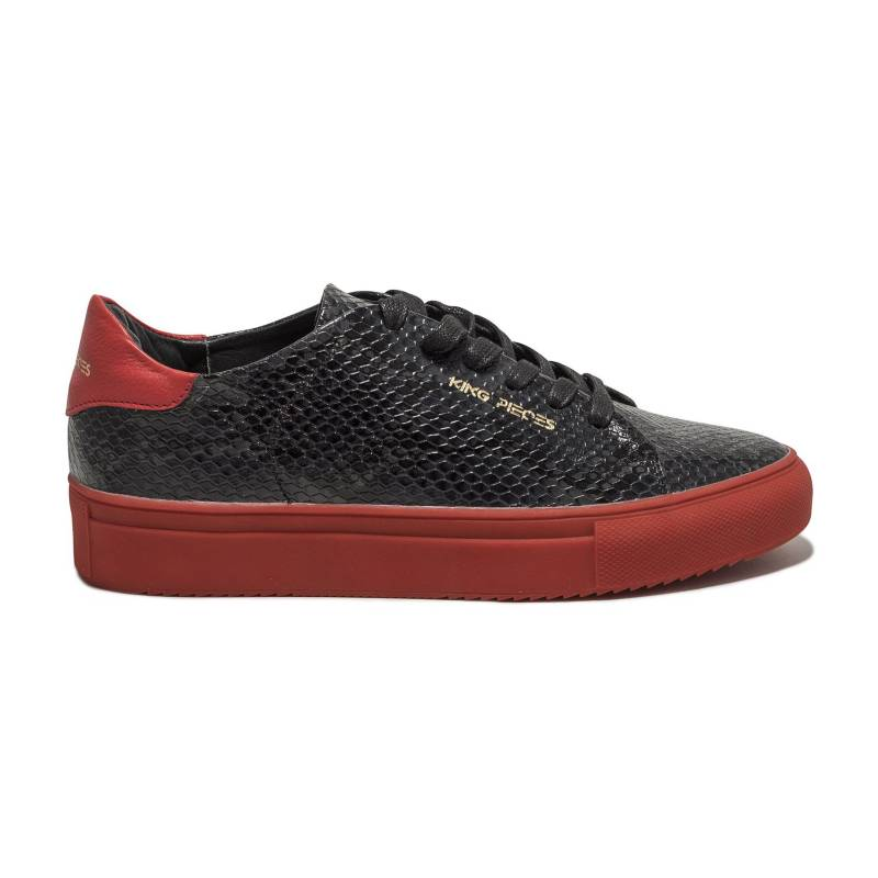King Pieces - Tenis Piton Negro con rojo King Pieces Lourdes