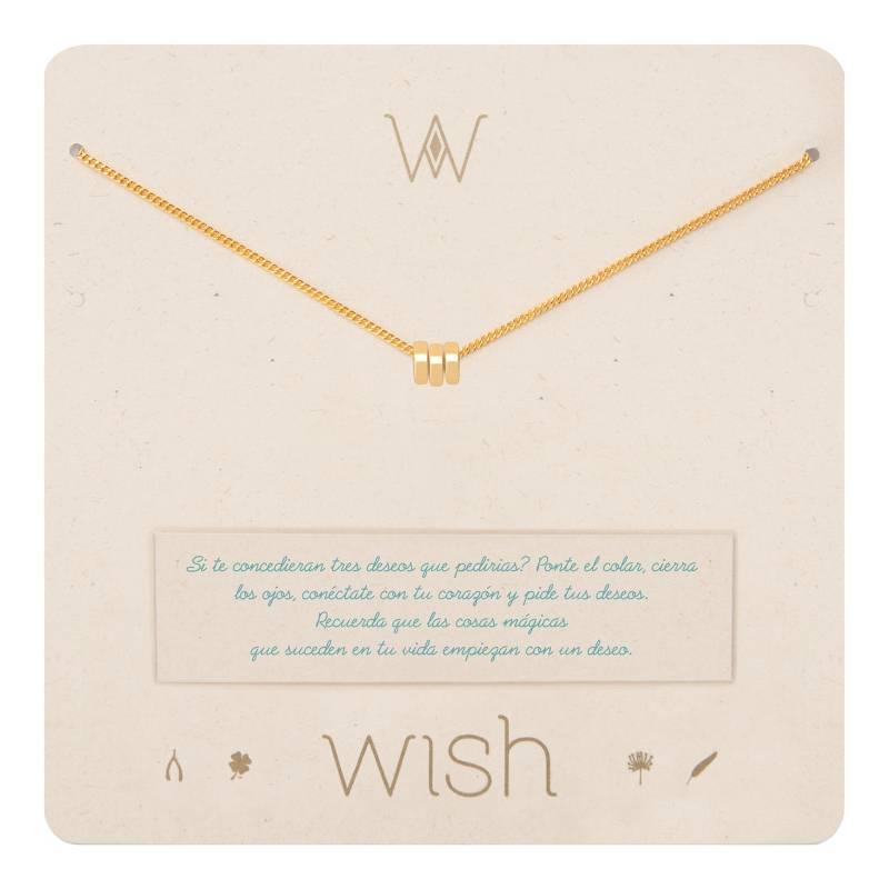 Wish - Collar Wish Oro 3 Argollas WHCLCD018O