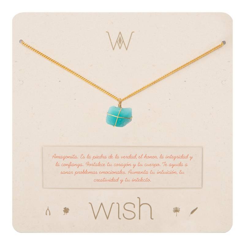Wish - Collar Wish Oro Amazonita WHCLCD007O