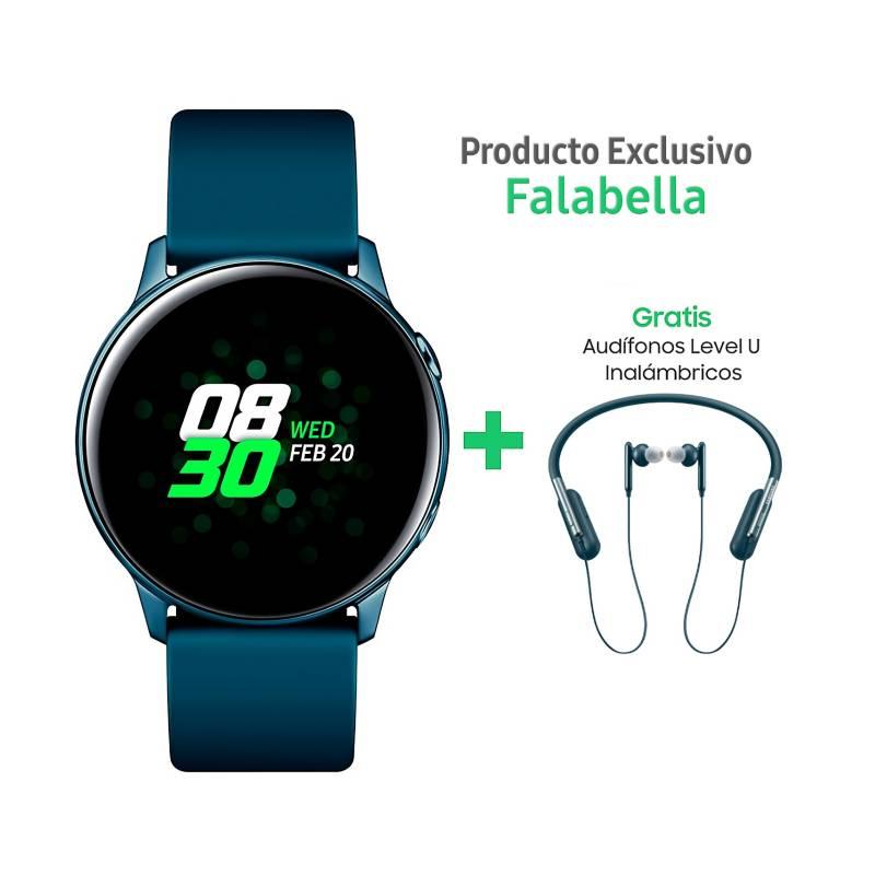 Samsung - Smartwatch Samsung Watch Active Azul + Audífonos Level U