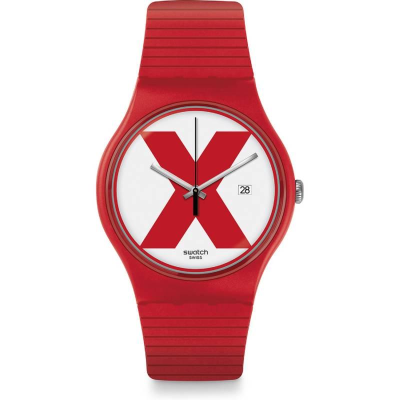 Swatch - Reloj Unisex Swatch XX-Rated Red SUOR400