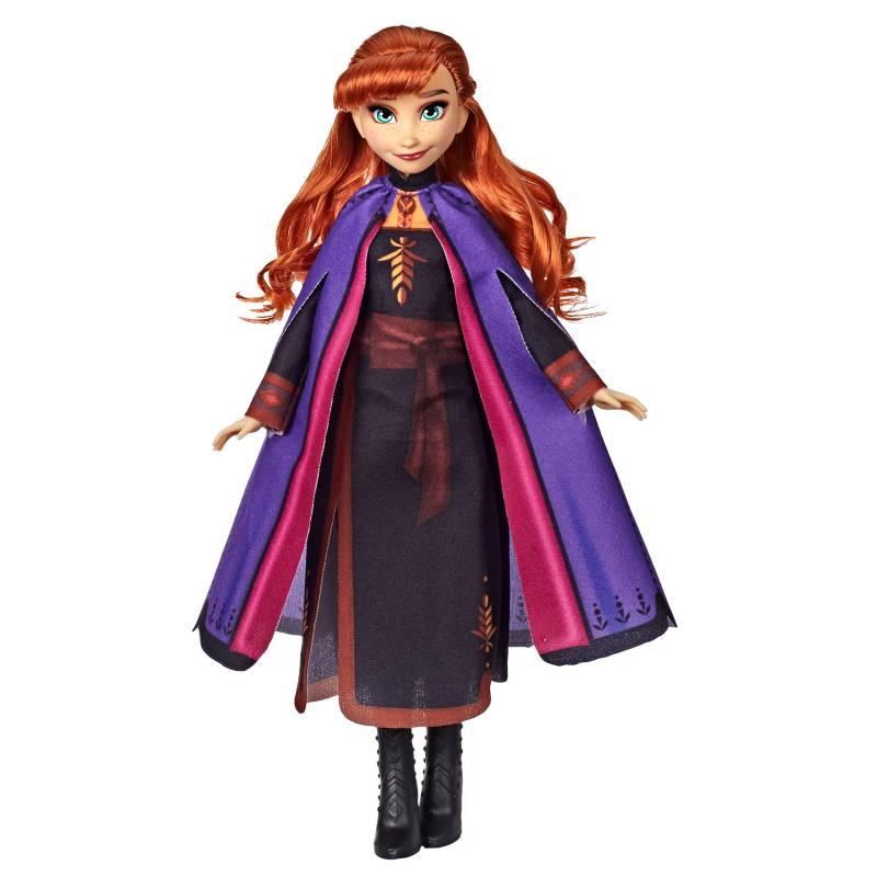 Frozen - Muñeca de Anna con cabello largo y rojo y vestimenta inspirada en la película