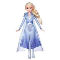 Frozen - Muñeca de Elsa con cabello largo y rubio y vestimenta azul