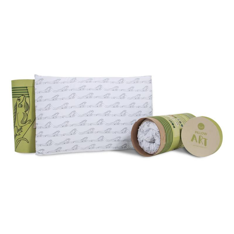 Boxi Sleep - Almohada Pillow Art Iguana Verde