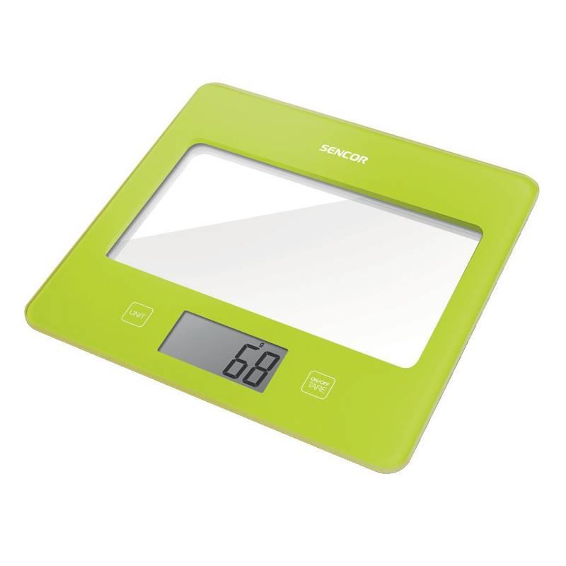 Sencor - Balanza de cocina Slim 5 kg verde
