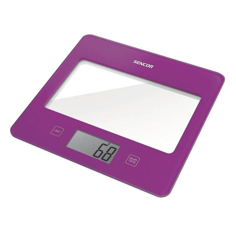 Sencor - Balanza de cocina Slim 5 kg violeta