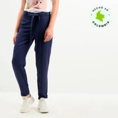 Basement - Pantalón Recto Mujer Basement