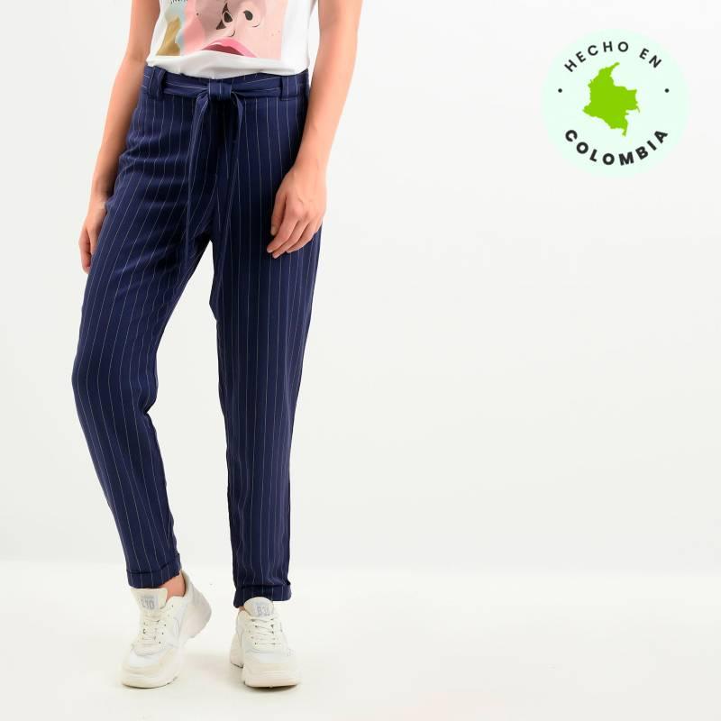 Basement - Pantalón Mujer Recto Medio Basement