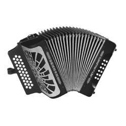 Acordeón rey vallenato negro - gcf - c/e hohnerHohner