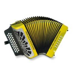Acordeón rey vallenato amarillo- besas -c/e hohnerHohner